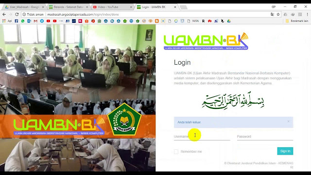 http://madrasah.argociptapersada.com/ Alamat Pendataan UAMBNBK