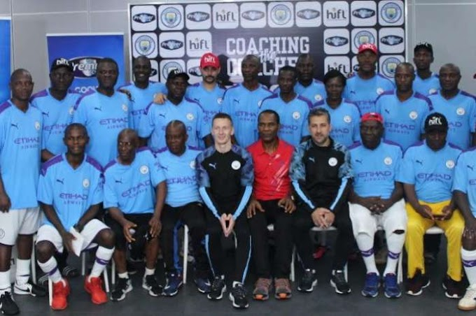 Nigeria Coaches Undergo training by Manchester City Coaching Crew