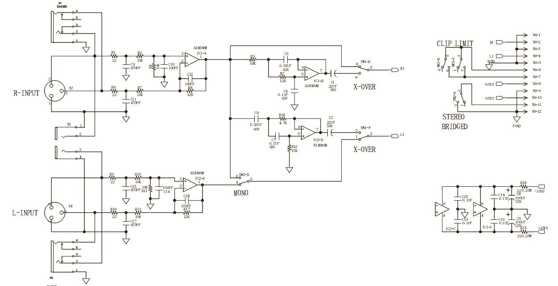 behringer epx 3000 - amplifier circuit diagram | schematic ... harmony amp schematic behringer amp schematic