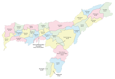 All about Assam Map