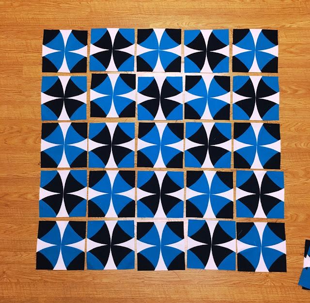 piecing quilt wood background