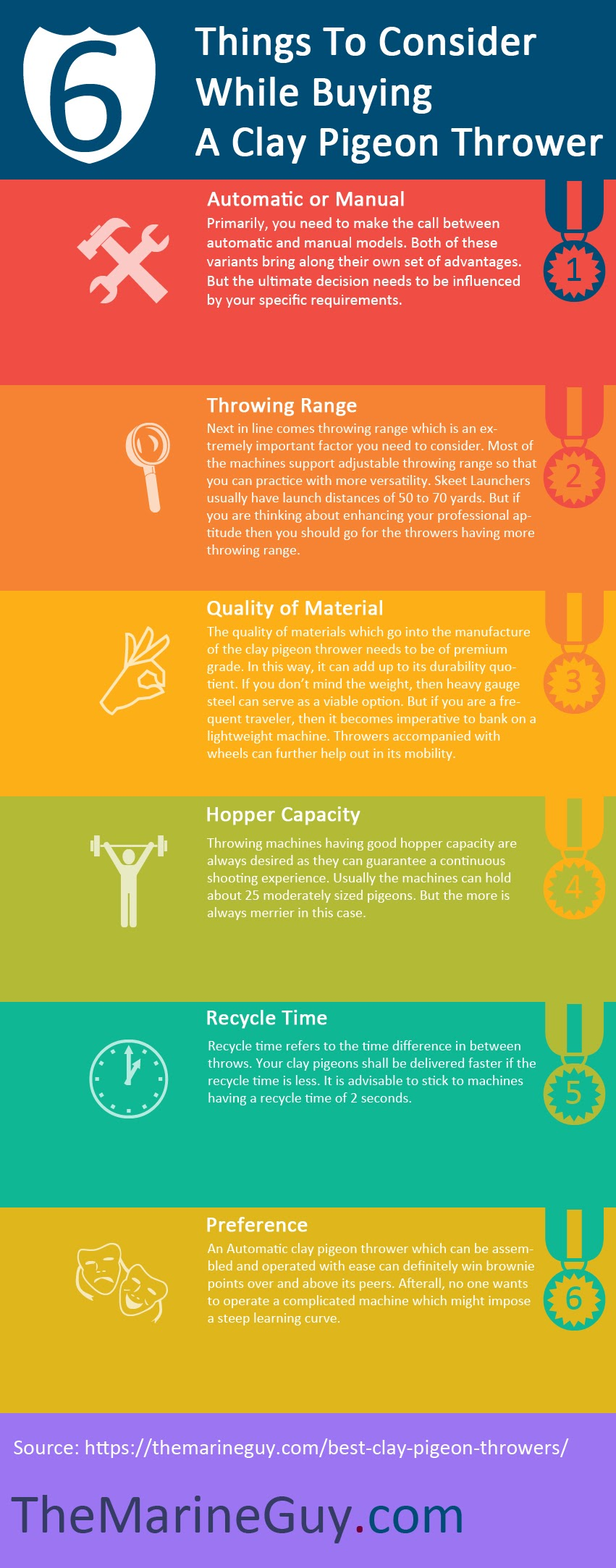 6 Things To Consider While Buying a Clay Pigeon Thrower #infographic
