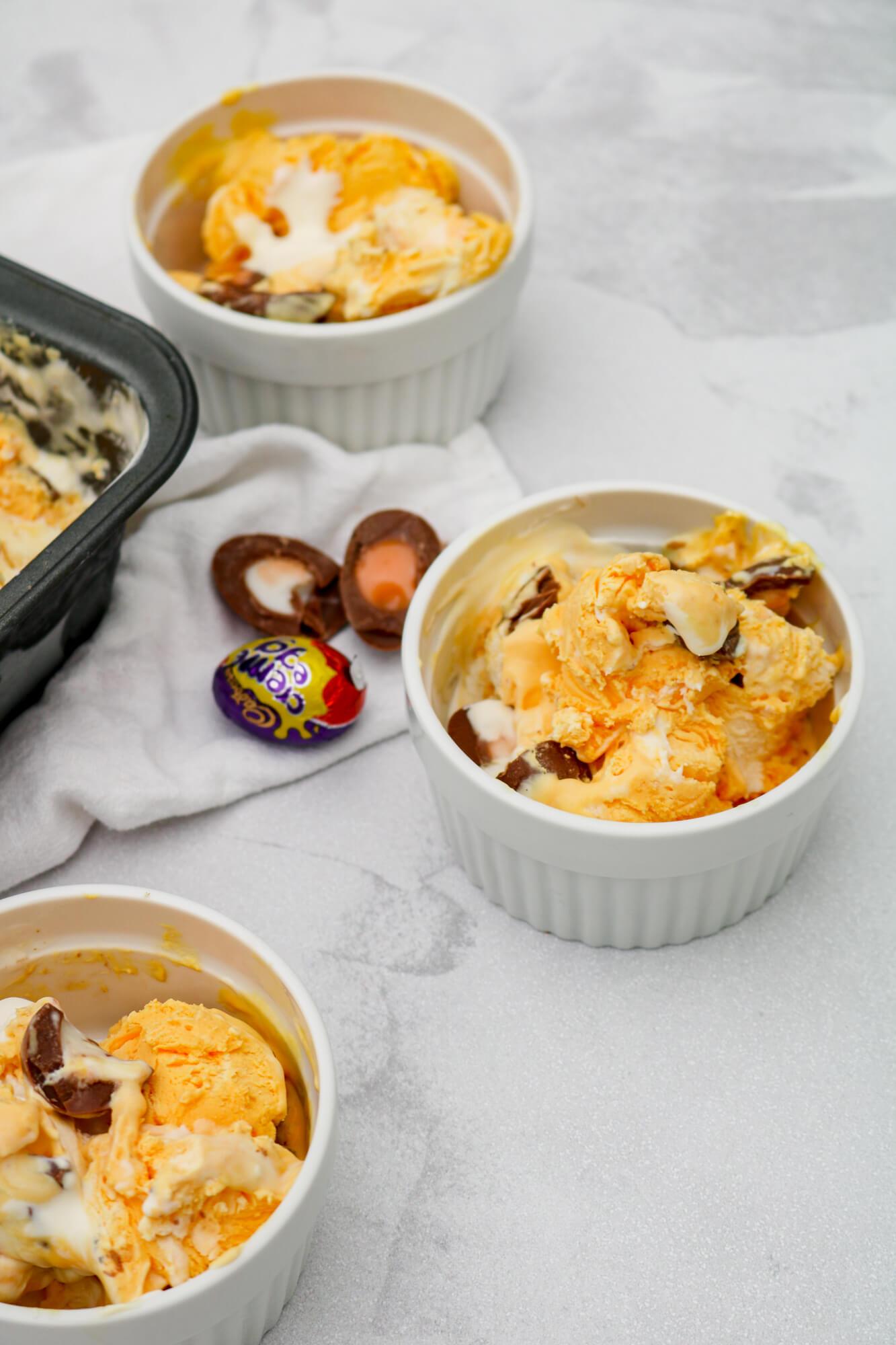 No Churn Creme Egg Ice Cream | Take Some Whisks