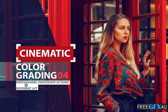Cinematic Color Grading 04 Premium Photoshop Actions LUTs