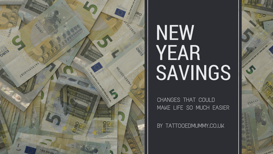 picture of money with text over suggesting new years savings