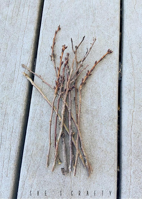 Twig broom directions - gather small twigs