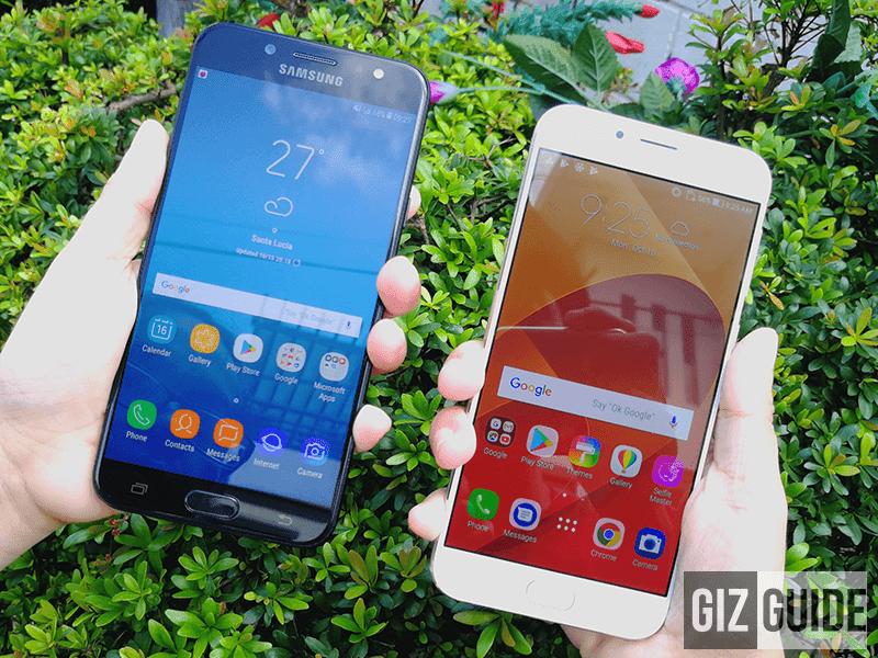 nosotros decided to compare their specs on newspaper Samsung Milky Way J7+ Vs ASUS ZenFone iv Selfie Pro Specs Comparison