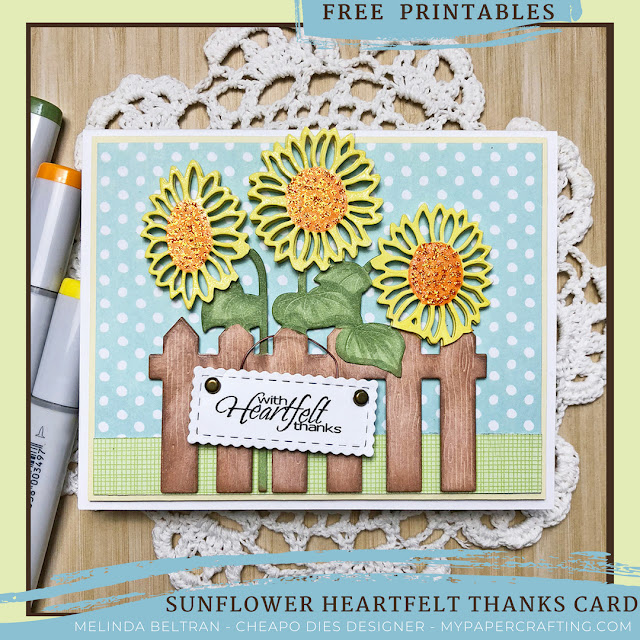 Terrifice TuesDIE Sunflower Card with FREE Printables