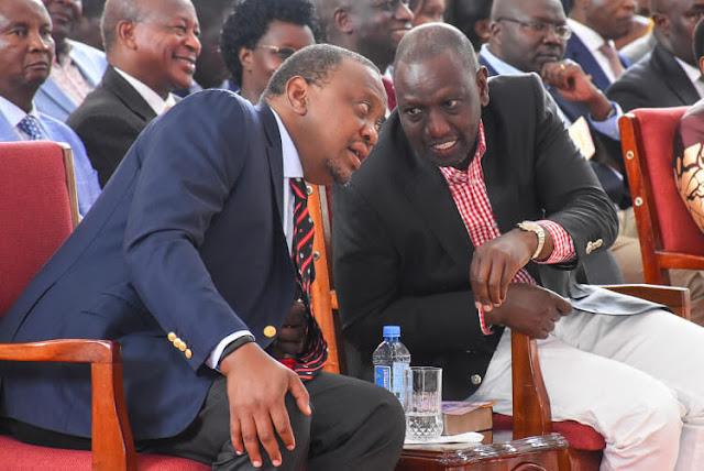President Uhuru Kenyatta with William Ruto at a past function. PHOTO | STAR