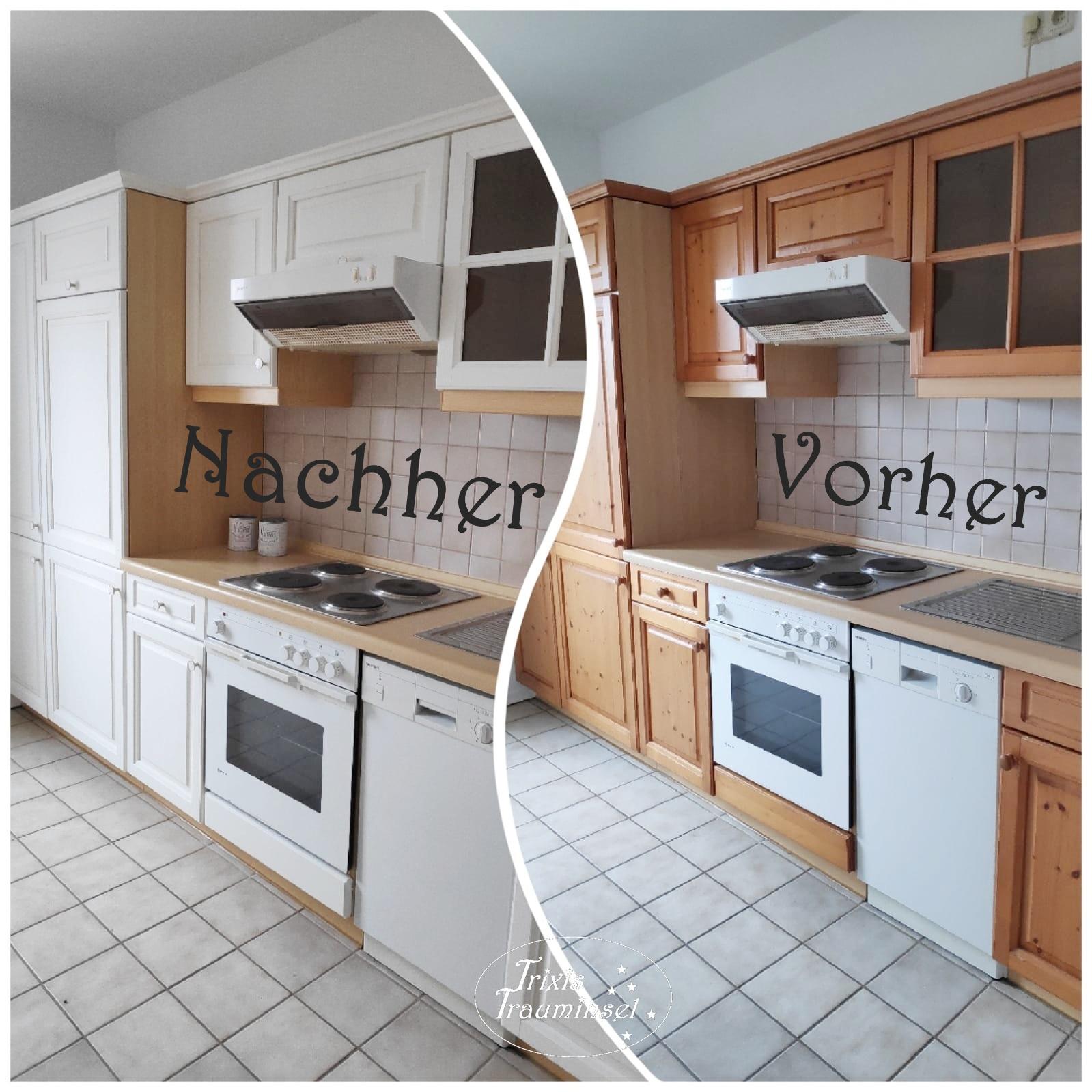 trixistrauminsel: Küchenrenovierung mit Kreidefarbe