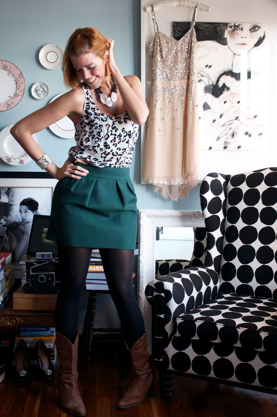 Style By Red Today S Outfit Animal Print Mini Skirt And