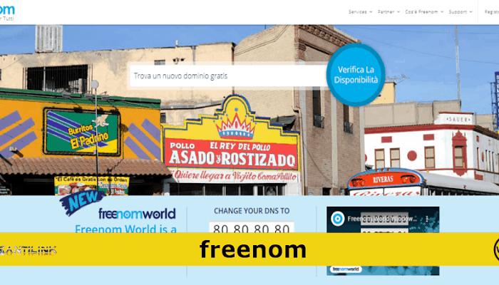 Registra un dominio gratis con Freenom