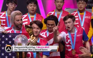 Sinatraa được trao danh hiệu MVP của Overwatch World Cup 2019
