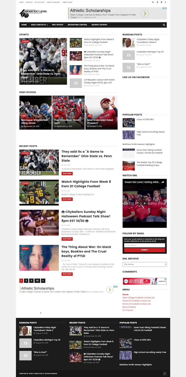 Sports Media Publishing site