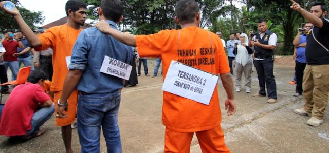 Polresta Barelang Gelar Rekonstruksi Pengeroyokan Ketua RT Tiban Kampung Hingga Meninggal Dunia