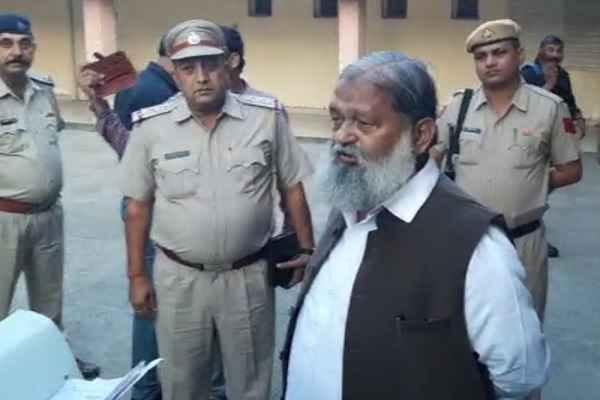 haryana-home-minister-anil-vij-surprise-inspection-panipat-city-thana