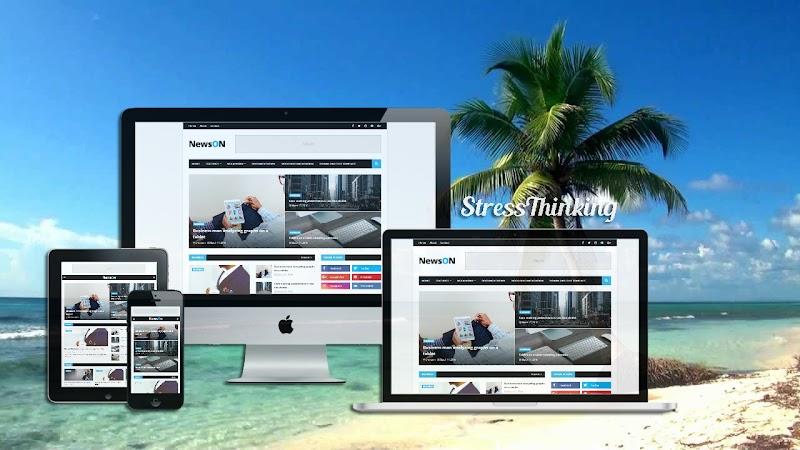 NewsOn Premium Blogger Template - Responsive Blogger Template