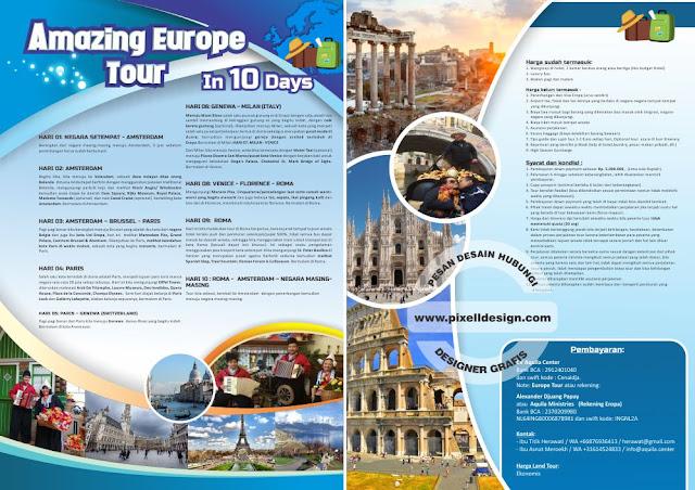 Iklan Brosur Promosi Wisata Travel Agen
