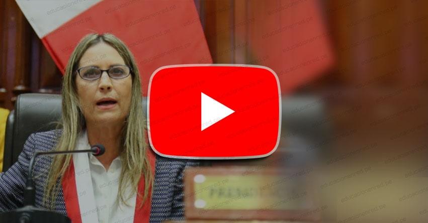 CONGRESO DE LA REPÚBLICA: Mensaje de la presidenta del parlamento, María del Carmen Alva