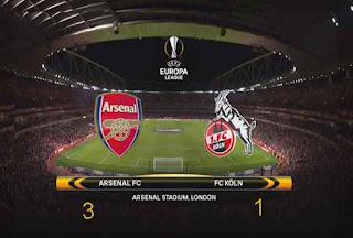 Arsenal vs FC Koln 3-1 Liga Europa 2017/18