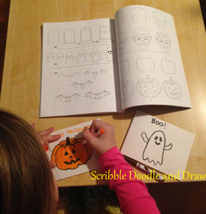 Making cards with Woo Jr Drawing book for kids