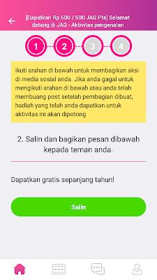bagikan aplikasi jag android ke teman sobat