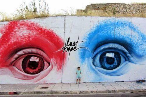 "iNO ""Last Hope"" Street Art Athens"