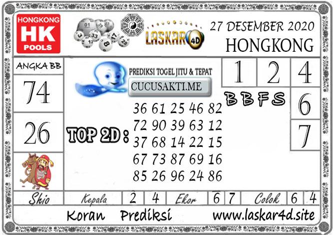 Prediksi Togel HONGKONG LASKAR4D 27 DESEMBER 2020