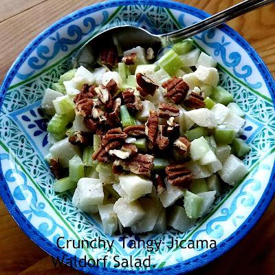 Crunchy Tangy Jicama Waldorf Salad! Creative and delicious.