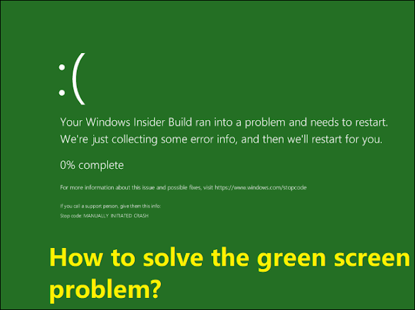This image showing How to solve the green screen problem?