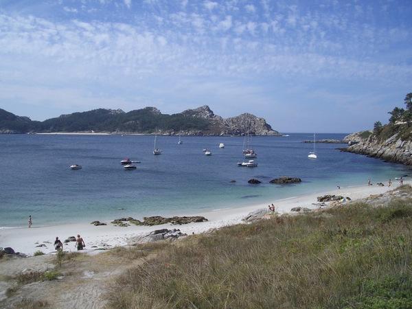 Islas Cíes, Parque Nacional Illas Atlánticas, en Pontevedra, Galicia, España