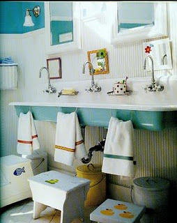 Little Cottage That Could Hall Kids Bath