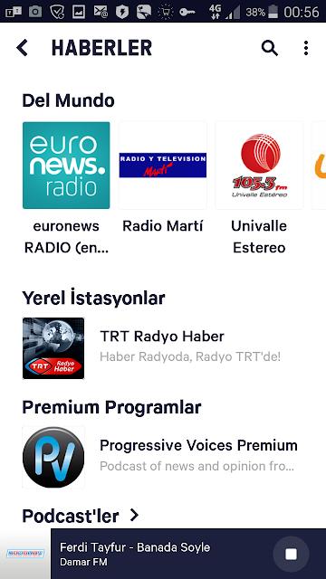 TuneIn Radio Radyo Programı