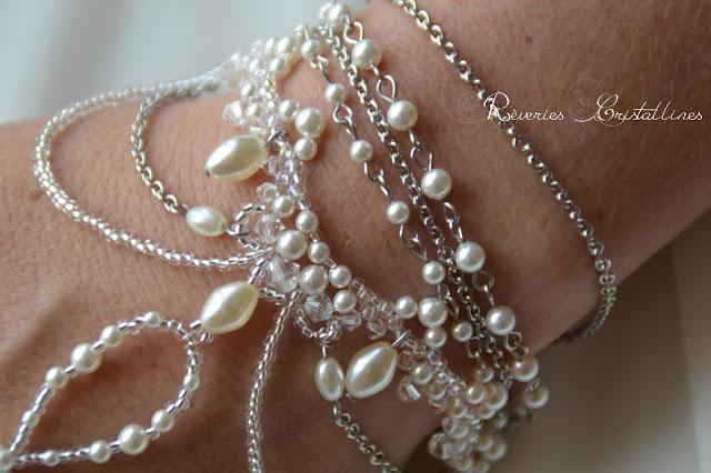 bijou mariage oriental en perles et cristaux