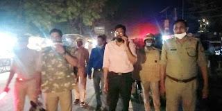 पंचायत चुनाव के मद्देनजर पुलिस प्रशासन ने किया फ्लैग मार्च | #NayaSaberaNetwork
