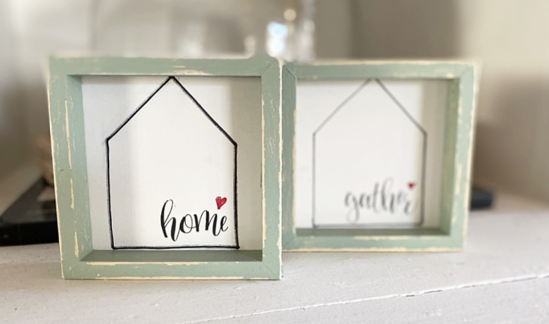 Mini Tiered Tray Home Signs