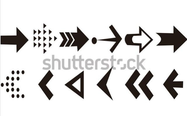 illustration stock set arrow icon