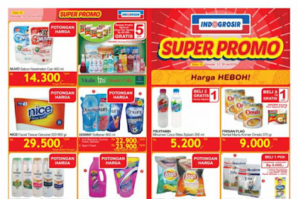 Katalog Indogrosir Terbaru Super Promo 12 - 25 Juli 2019