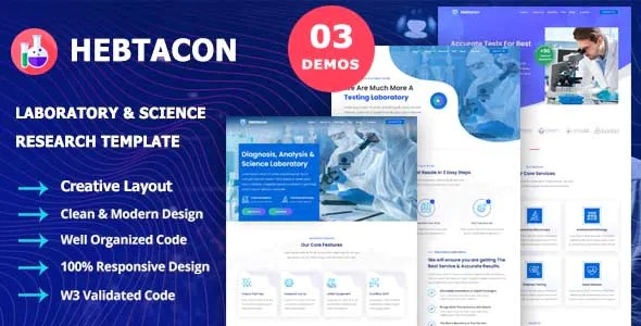 Best Science Research & Laboratory Template