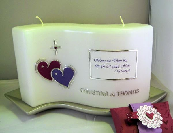 Helgas Kerzen Und Kartenzauber Hochzeitskerze Mit Spruch