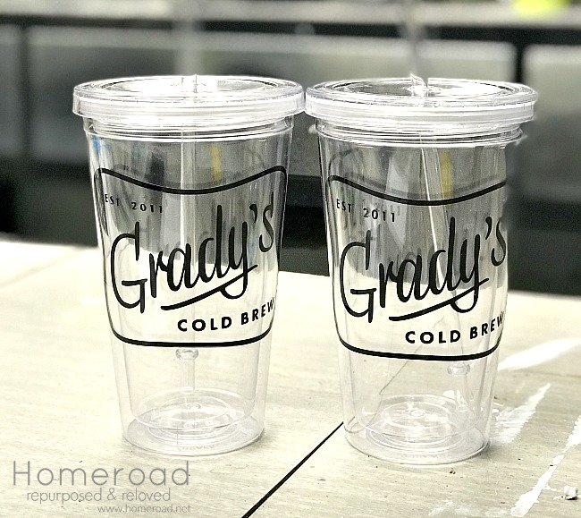 Creating cold brew coffee tumblers using the Silhouette vinyl cutter
