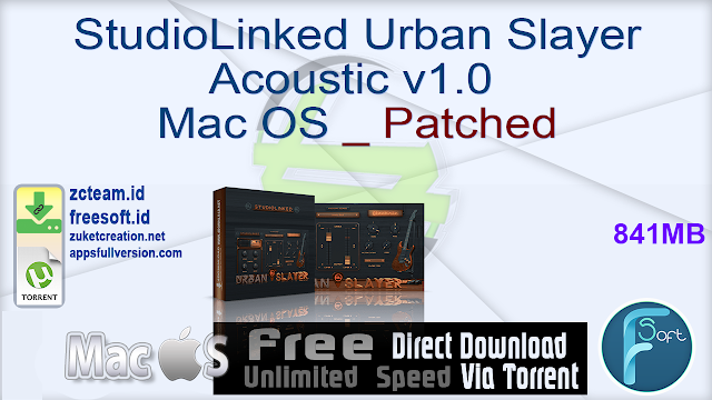 StudioLinked Urban Slayer Acoustic v1.0 Mac OS _ Patched