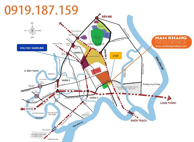 Vị Trí Dự Án Nam Khang Residence Quận 9