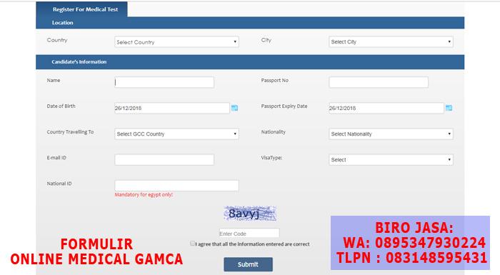 Prosedur Medical Online Gamca - BIRO JASA DOKUMEN