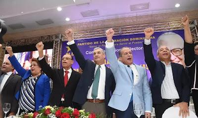 PLD celebra la juramentación  de los candidatos con la ausencia del expresidente Leonel Fernandez