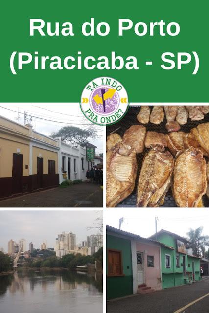 A Rua do Porto em Piracicaba-SP