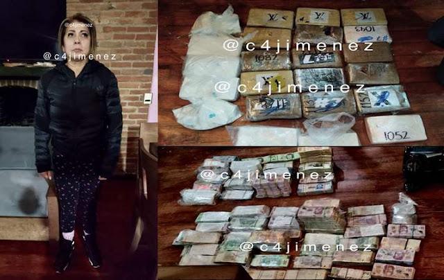 """Cae junto a su amante, dinero y tabiques de Cocaína a la mamá de """"El Lunares"""", líder de La Unión Tepito"""