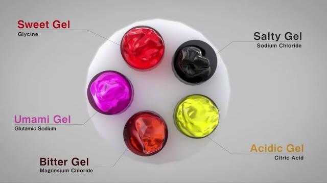 Taste Display Using Ion Electrophoresis in Five Gels