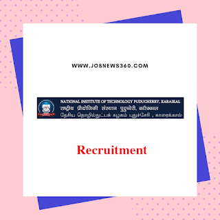 NIT Puducherry Recruitment 2019 for JRF post