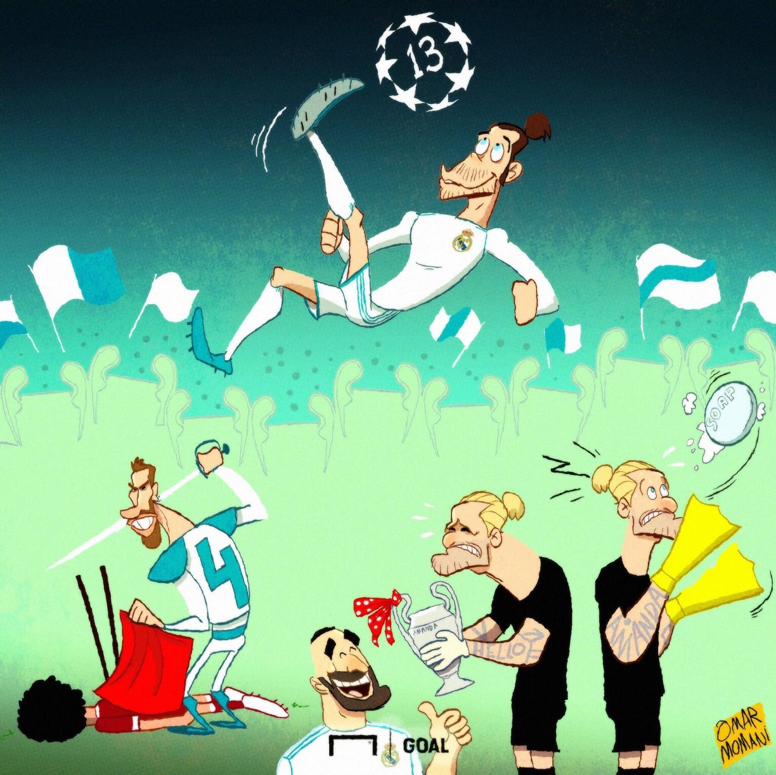 صورة كاريكاتيرية خاص بنهائي الأبطال